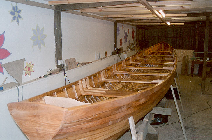 Cornish Pilot Gig under construction