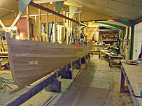 Cornish Pilot Gig under construction | click to enlarge
